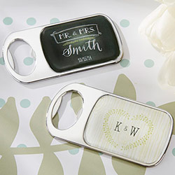 Personalized Bottle Opener with Epoxy Dome - Kates Rustic Wedding Collection