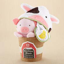 """Farmhouse Friends"" 3-Piece Bathtime Bucket"